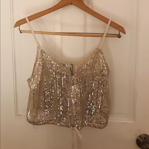 Silver Sequined Top from Zara